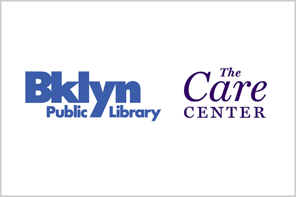 Logos of Brooklyn Public Library and The Care Center.